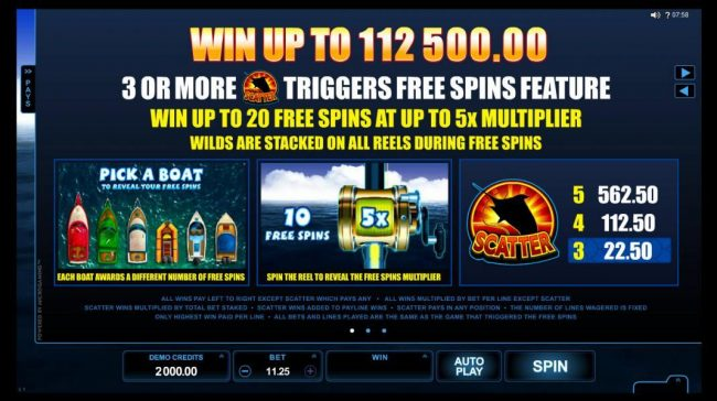 Play slots at River Nile: River Nile featuring the Video Slots Reel Spinner with a maximum payout of $112,500