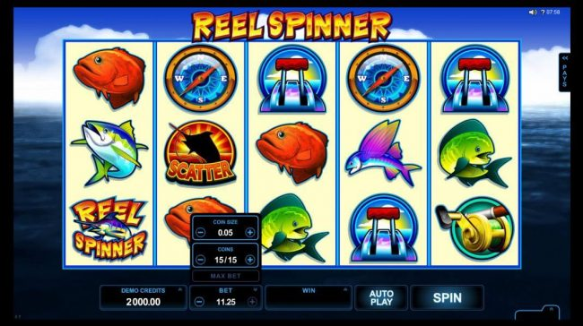 Lucky 247 featuring the Video Slots Reel Spinner with a maximum payout of $112,500