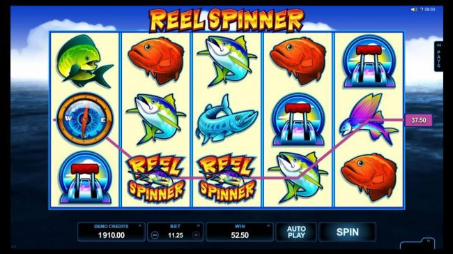 Players Palace featuring the Video Slots Reel Spinner with a maximum payout of $112,500