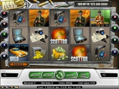 DruckGluck featuring the Video Slots Reel Steal with a maximum payout of $37,500