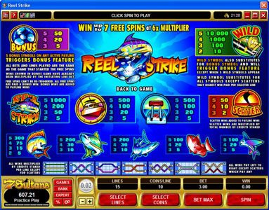 Bulldog777 featuring the Video Slots Reel Strike with a maximum payout of $25,000