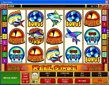 Casino Cruise featuring the Video Slots Reel Strike with a maximum payout of $25,000
