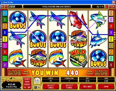 Lucky247 featuring the Video Slots Reel Strike with a maximum payout of $25,000