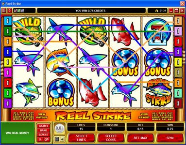 Challenge featuring the Video Slots Reel Strike with a maximum payout of $25,000