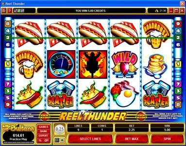 Piggs featuring the Video Slots Reel Thunder with a maximum payout of $20,000