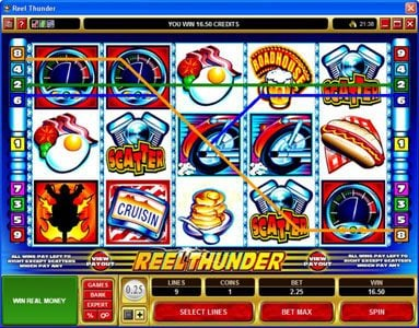 Golden Tiger featuring the Video Slots Reel Thunder with a maximum payout of $20,000