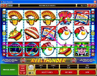 Gala featuring the Video Slots Reel Thunder with a maximum payout of $20,000