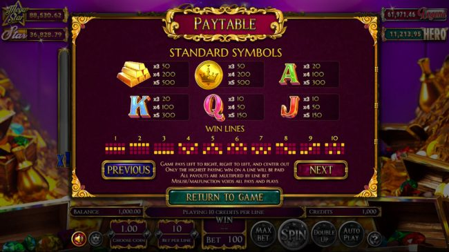Winward featuring the Video Slots Reels of Wealth with a maximum payout of $67,400