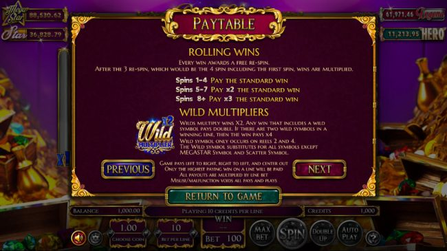 Play slots at Wizbet: Wizbet featuring the Video Slots Reels of Wealth with a maximum payout of $67,400