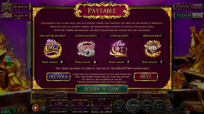 Winner Million featuring the Video Slots Reels of Wealth with a maximum payout of $67,400