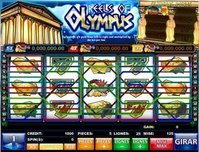 Play slots at Joe Fortune: Joe Fortune featuring the Video Slots Reels of Olympus with a maximum payout of Jackpot