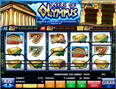 Play slots at Boaboa: Boaboa featuring the Video Slots Reels of Olympus with a maximum payout of Jackpot