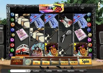Jumba Bet featuring the Video Slots Reels of Rock with a maximum payout of $6,250