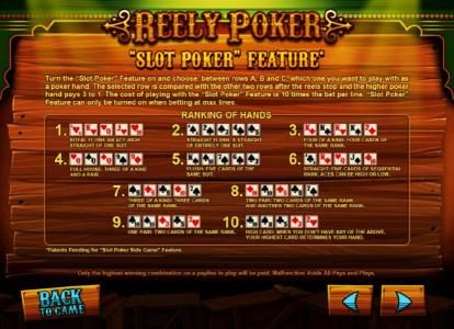 Play slots at Royal House: Royal House featuring the Video Slots Reely Poker with a maximum payout of $100,000