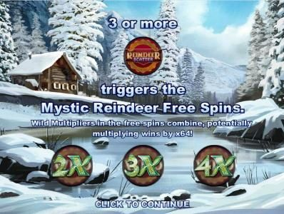 Bet At Casino featuring the Video Slots Reindeer Wild Wins with a maximum payout of $1,600