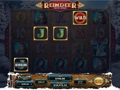 Jetbull featuring the Video Slots Reindeer Wild Wins with a maximum payout of $1,600