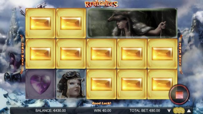 Jackpot Mobile featuring the Video Slots Renegades with a maximum payout of $200,000
