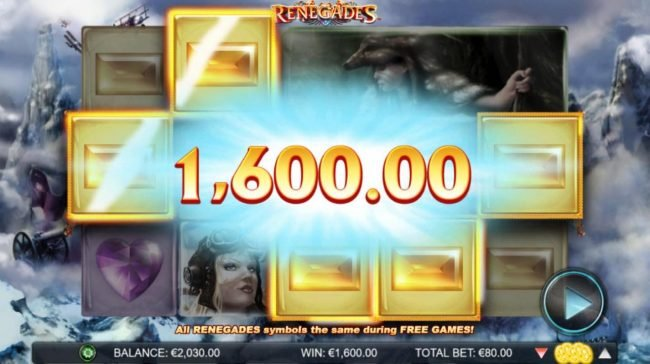 Lucky Me Slots featuring the Video Slots Renegades with a maximum payout of $200,000