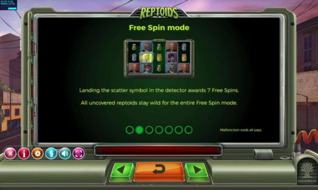 Reptoids :: Free Spins Rules
