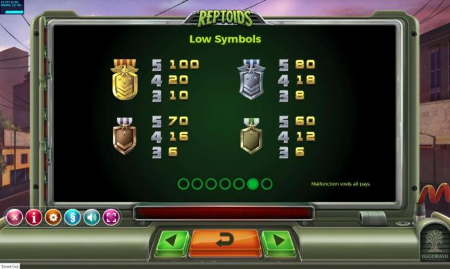 Play slots at Crazy vegas: Crazy vegas featuring the Video Slots Reptoids with a maximum payout of $500,000