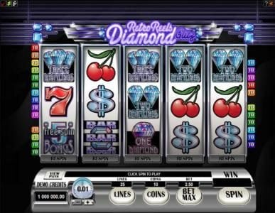 Play slots at Vegas Winner: Vegas Winner featuring the Video Slots Retro Reels - Diamond Glitz with a maximum payout of $50,000