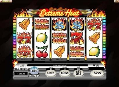 Play slots at Casino 765: Casino 765 featuring the Video Slots Retro Reels - Extreme Heat with a maximum payout of $37,500
