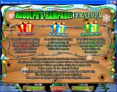 Club UK featuring the Video Slots Return of the Rudolph with a maximum payout of $250,000