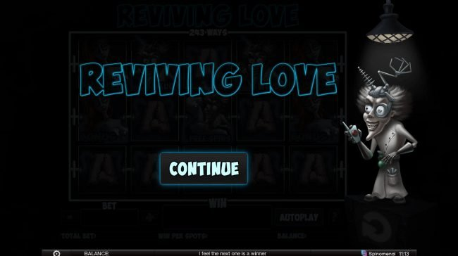 King Billy featuring the Video Slots Reviving Love with a maximum payout of $100,000