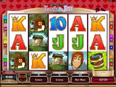 GeoBet featuring the Video Slots Rhyming Reels - Jack & Jill with a maximum payout of $2,200,000