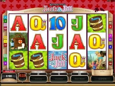MANSION featuring the Video Slots Rhyming Reels - Jack & Jill with a maximum payout of $2,200,000