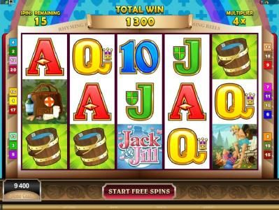 UK Casino Club featuring the Video Slots Rhyming Reels - Jack & Jill with a maximum payout of $2,200,000