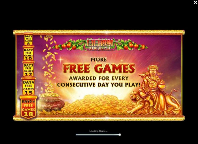 More free games awarded for every consecutive day you play.
