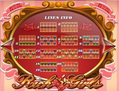 Rich Girls :: payline diagrams