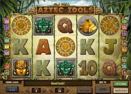 Africa Casino featuring the Video Slots Rich Wilde and the Aztec Idols with a maximum payout of $1,250