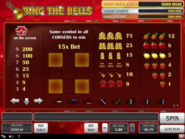 Vegas Hero featuring the Video Slots Ring the Bells with a maximum payout of $100,000