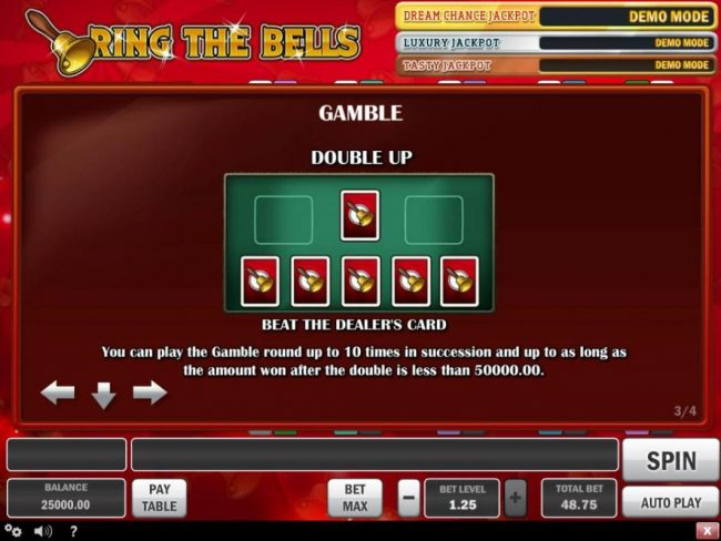 Play slots at Vegas Hero: Vegas Hero featuring the Video Slots Ring the Bells with a maximum payout of $100,000