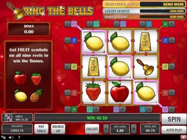 Wild Slots featuring the Video Slots Ring the Bells with a maximum payout of $100,000