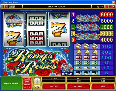 Play slots at Gaming Club: Gaming Club featuring the video-Slots Rings & Roses with a maximum payout of $150,000