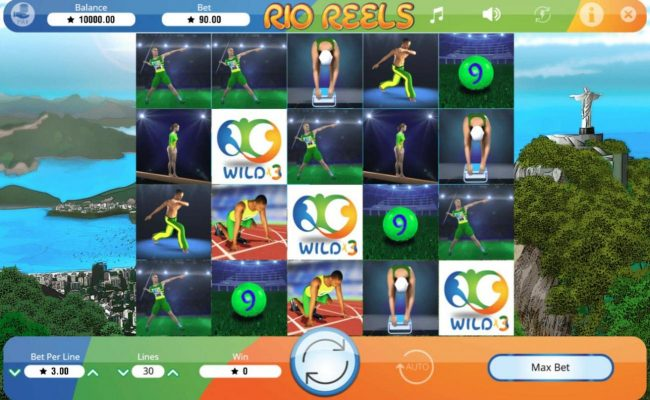 Africa Casino featuring the Video Slots Rio Reels with a maximum payout of $4,500