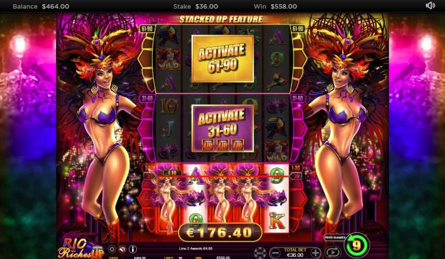 Play slots at iviCasino: iviCasino featuring the Video Slots Rio Riches Stacked Up with a maximum payout of $15,000