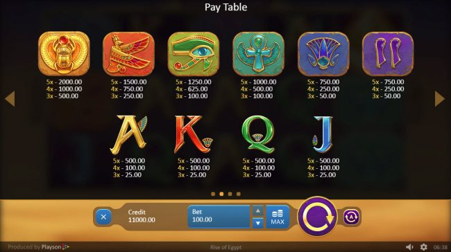 Play slots at Trada: Trada featuring the Video Slots Rise of Egypt with a maximum payout of $40,000