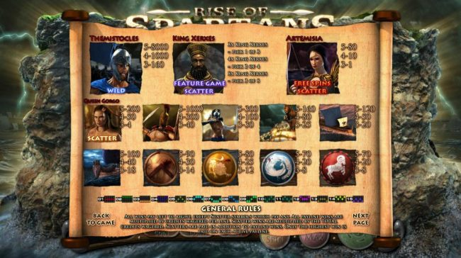 Jupiter Club featuring the Video Slots Rise of Spartans with a maximum payout of $10,000