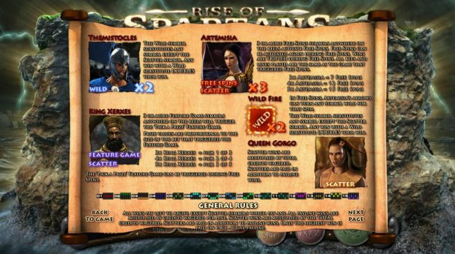 Mandarin featuring the Video Slots Rise of Spartans with a maximum payout of $10,000