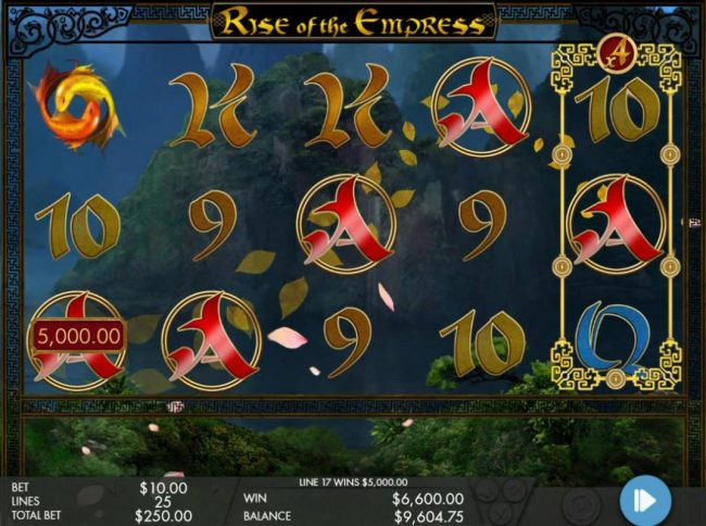 Conquer featuring the Video Slots Rise of the Empress with a maximum payout of $250,000