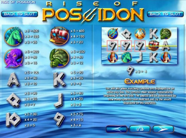 Play slots at 888 Tiger: 888 Tiger featuring the Video Slots Rise of Poseidon with a maximum payout of $25,000