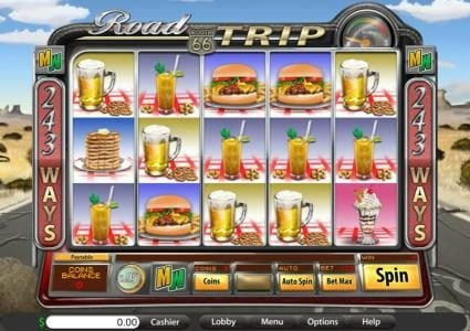 Lucky Creek featuring the Video Slots Road Trip Max Ways with a maximum payout of $625