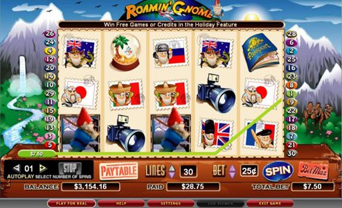 Lucky Bets featuring the video-Slots Roamin' Gnome with a maximum payout of 5,000x