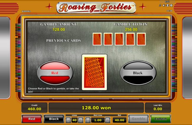 Card Gamble Feature Game Board