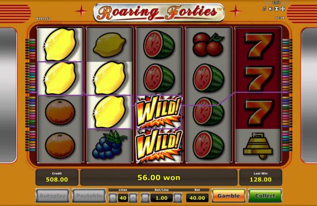 Roaring Forties :: Multiple winning paylines