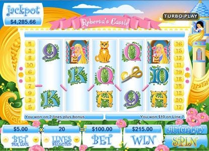 Kudos featuring the Video Slots Roberta's Castle with a maximum payout of $250,000